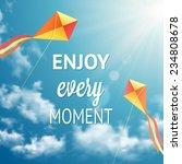 enjoy every moment phrase on... | Shutterstock .eps vector #234808678