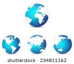 world globe icons set  with... | Shutterstock .eps vector #234811162