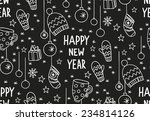 hand drawn new year pattern ... | Shutterstock .eps vector #234814126