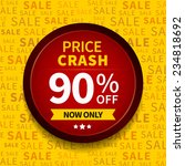 price crash sale label on... | Shutterstock . vector #234818692