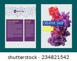 set of template bright creative ...
