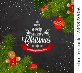 merry christmas background with ... | Shutterstock .eps vector #234823906