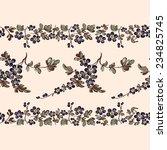 seamless border floral pattern  ...   Shutterstock . vector #234825745