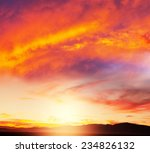 sunset scene | Shutterstock . vector #234826132