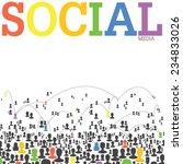 social media network concept....   Shutterstock . vector #234833026