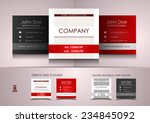 simple square business card... | Shutterstock .eps vector #234845092