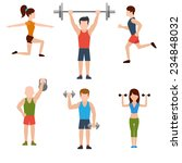 icons set of man and woman... | Shutterstock . vector #234848032