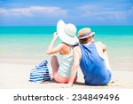 back view of couple sitting at...   Shutterstock . vector #234849496