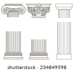 set of old style greece column. ... | Shutterstock .eps vector #234849598