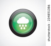 cloud rain sign icon green...