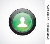 profile sign icon green shiny...