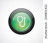 medical symbol glass sign icon...