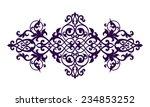 vintage baroque calligraphy... | Shutterstock . vector #234853252