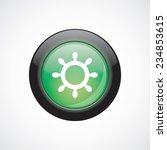 ship wheel glass sign icon...