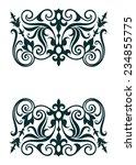 vintage ornate border frame... | Shutterstock . vector #234855775
