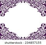vintage baroque scroll design... | Shutterstock . vector #234857155