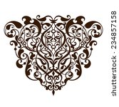 vintage baroque scroll design... | Shutterstock . vector #234857158