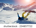 snowboard crash | Shutterstock . vector #234857722