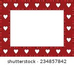 red gem heart frame red gem...   Shutterstock . vector #234857842