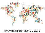 group of colorful people... | Shutterstock . vector #234861172