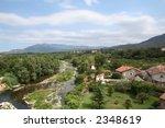 river valley view. | Shutterstock . vector #2348619