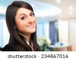 smiling businesswoman in the... | Shutterstock . vector #234867016