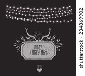 merry christmas card with... | Shutterstock .eps vector #234869902