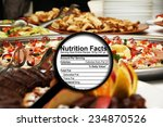 Small photo of Magnifying glass on nutrition facts