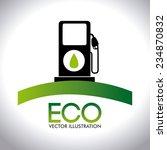 ecology design over white... | Shutterstock .eps vector #234870832