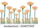 flower watercolor hand painted  ... | Shutterstock . vector #234877525