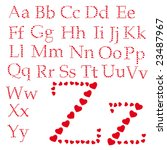 love alphabet made of small...