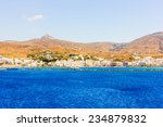 sea view of the town of tinos... | Shutterstock . vector #234879832