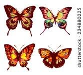 butterflies design | Shutterstock .eps vector #234880225