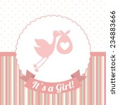 baby card    vector illustration | Shutterstock .eps vector #234883666