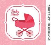 baby card    vector illustration | Shutterstock .eps vector #234883882