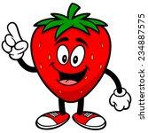 strawberry talking   Shutterstock .eps vector #234887575
