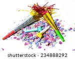 items for party birthday or new ... | Shutterstock . vector #234888292