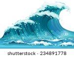 Illustration Of A Huge Ocean...