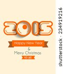 vector new year 2015 flyer for... | Shutterstock .eps vector #234919216