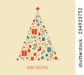 merry christmas tree background | Shutterstock .eps vector #234923752