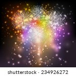 holiday fireworks background | Shutterstock . vector #234926272