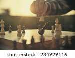 man playing chess | Shutterstock . vector #234929116