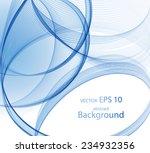 abstract blue spiral   Shutterstock .eps vector #234932356