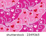 valentine heart wallpaper ... | Shutterstock .eps vector #2349365