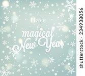 vector vintage retro christmas... | Shutterstock .eps vector #234938056