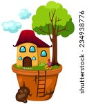 illustration of isolated house... | Shutterstock . vector #234938776