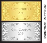 luxury gift coupon with gold... | Shutterstock .eps vector #234941002