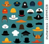 vector set hat and cap... | Shutterstock .eps vector #234949228