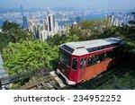 the  peak tram  in hong kong. | Shutterstock . vector #234952252