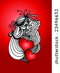 valentine's day background with ... | Shutterstock .eps vector #23496652